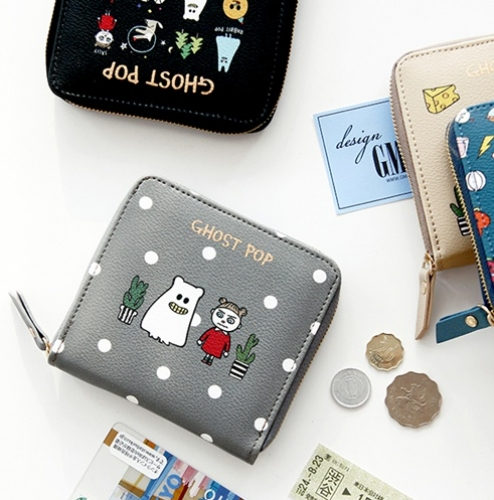 Ghostpop zipper wallet - S