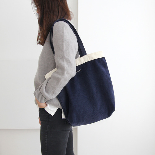 Around'd line shoulder bag-corduroy